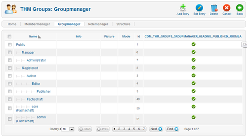 THM-Groups Backend - Groupmanager