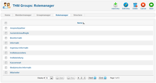 THM-Groups Backend - Rolemanager