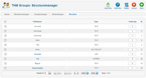 THM-Groups Backend - Structuremanager